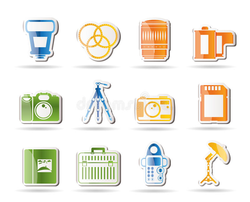 Download Photography Equipment Icons Stock Vector - Image: 16287478