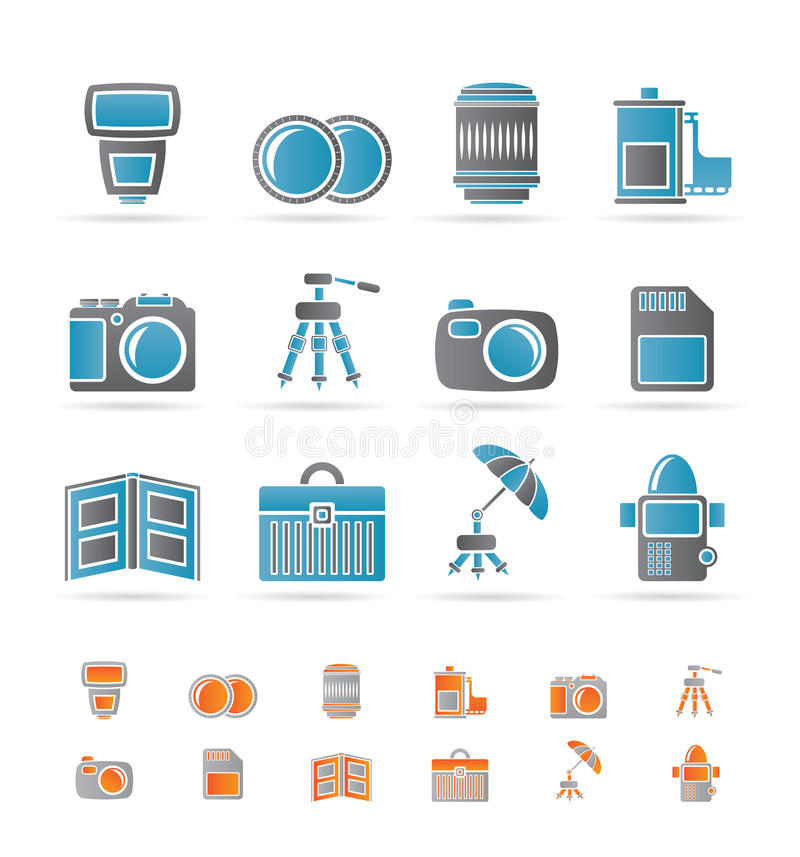 Download Photography Equipment Icons Stock Vector - Image: 17547405