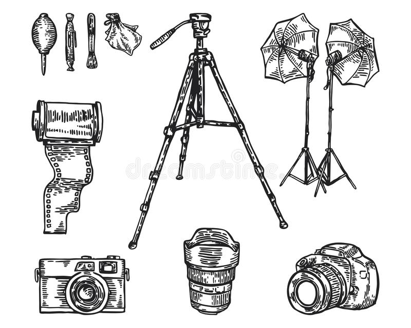 Photography equipment royalty free stock photography