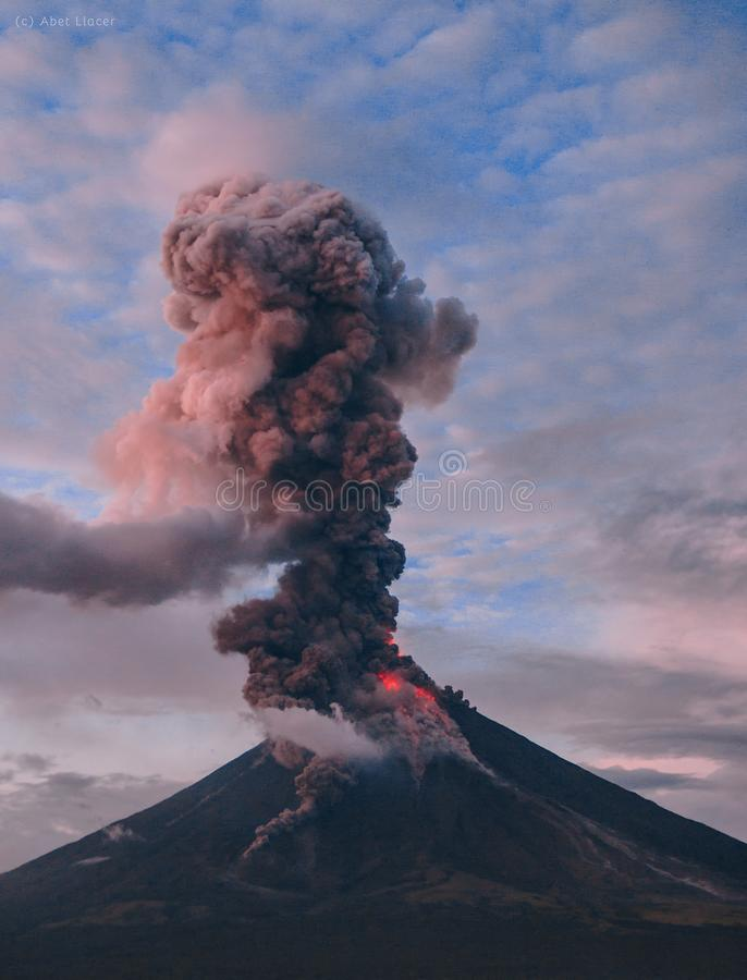 Photography of Erupting Volcano royalty free stock photo