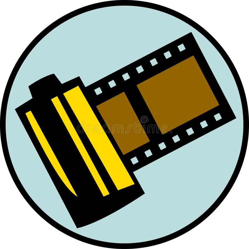 photography film roll or reel. Vector available vector illustration