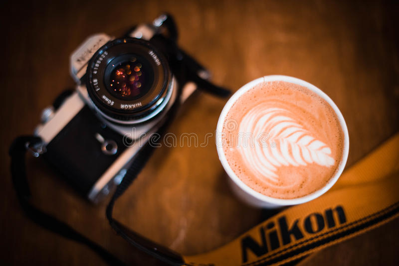 Photography during free time stock photo
