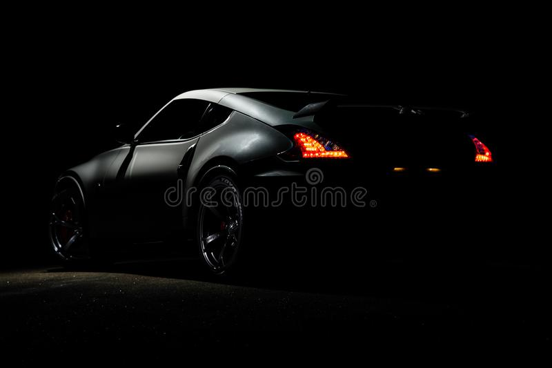 Photography of Gray Sports Car royalty free stock photography