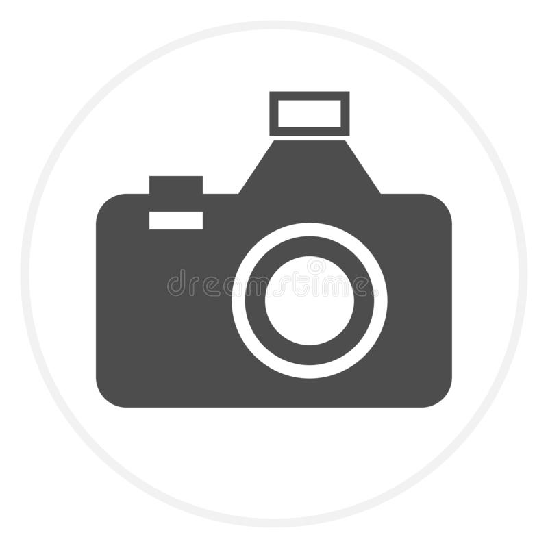 Photography icon - digital camera illustrations - photo & picture sign and symbols. Vector eps 10 stock illustration