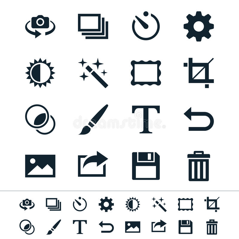Free Photography Icons Royalty Free Stock Photography - 32308947