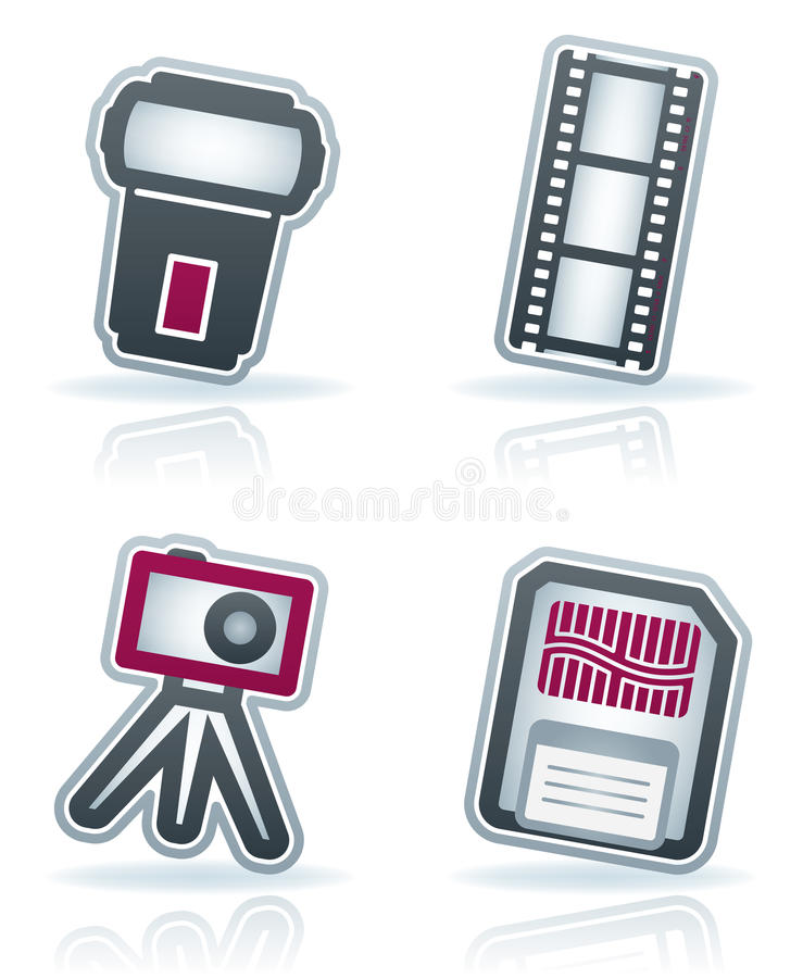 Download Photography Icons Set Royalty Free Stock Image - Image: 24909186