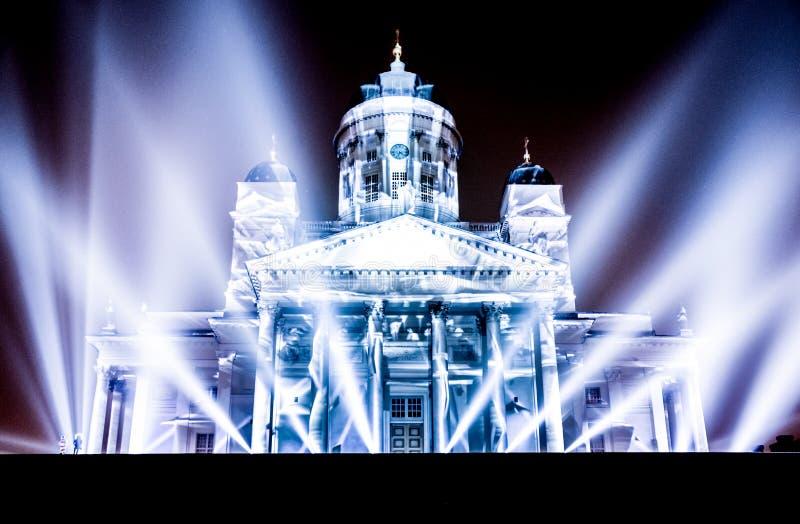 Photography of Illuminated Building at Night royalty free stock photos