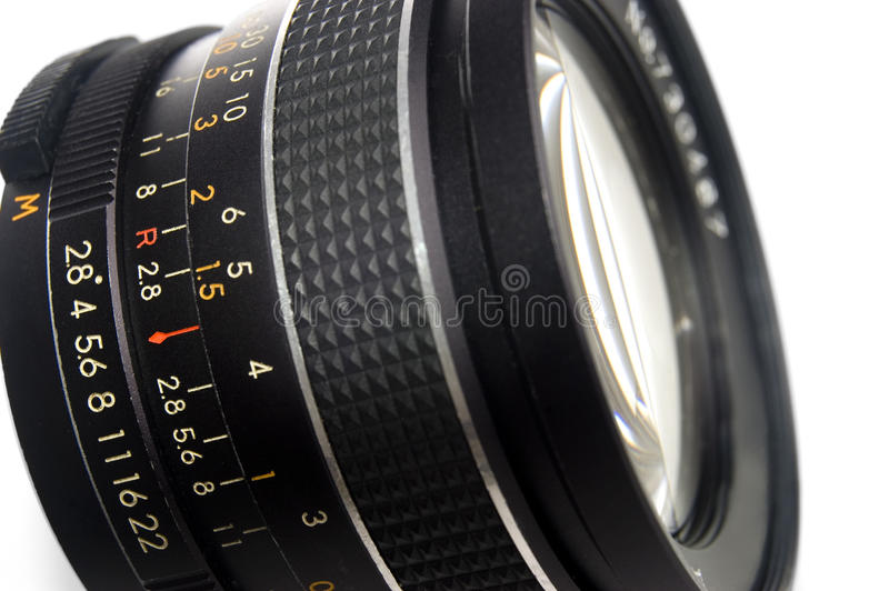 Photography Lens Close Up Stock Photo