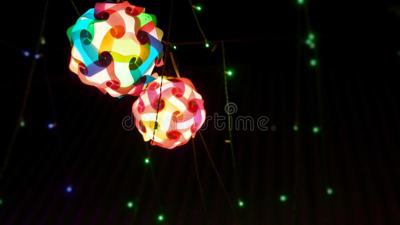 Photography of lighting in a festival for background usage. Photography of abstract lighting in a festival for background usage stock photography