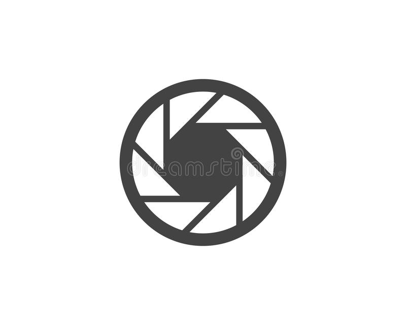 Photography logo design Template. Vector icon illustration royalty free illustration