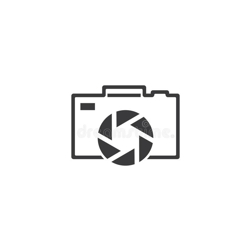 Photography logo design. Vector template, camera, icon, photographer, symbol, digital, focus, element, technology, concept, illustration, lens, business, film royalty free illustration