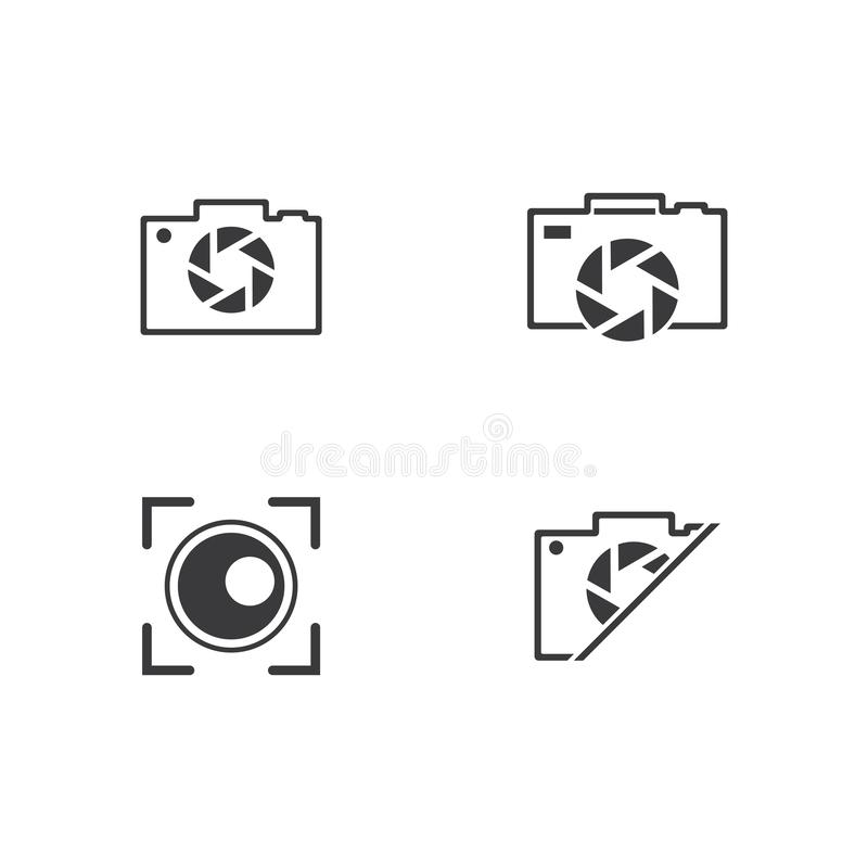Photography logo design. Vector template, camera, icon, photographer, symbol, digital, focus, element, technology, concept, illustration, lens, business, film stock illustration