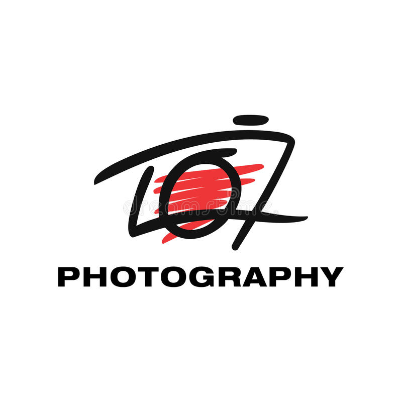 Photography logo template, Photographer identity. A simple symbol for your business that quite unique so it can stand from the crowd. Easy to implement in future vector illustration