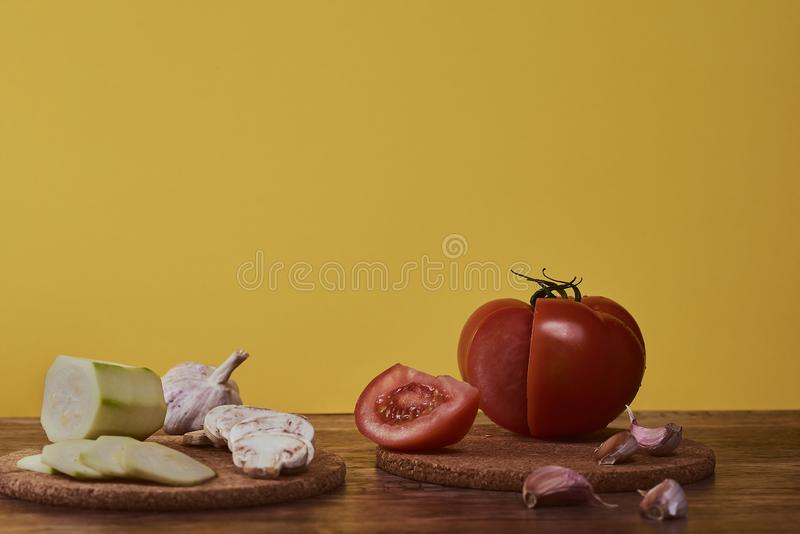 Photography of mediterranean food, typical Andalusian gastronomy. stock photography