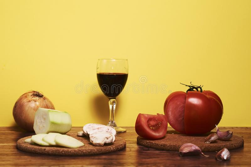 Photography of mediterranean food, typical Andalusian gastronomy. stock photos