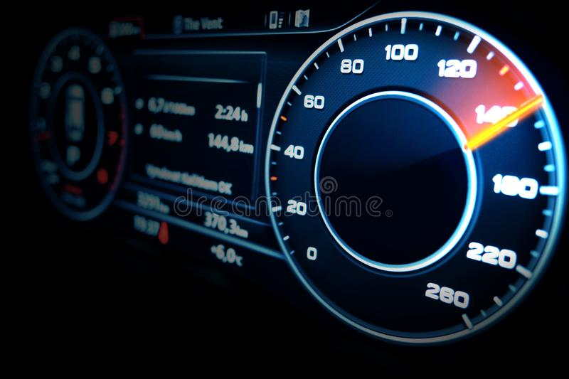 Modern Speedometer stock image