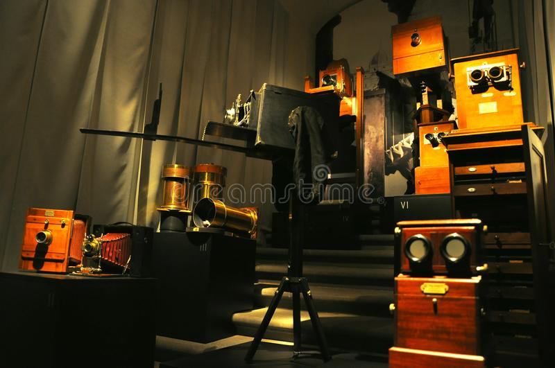 Photography Museum With Vintage Cameras Editorial Stock Image