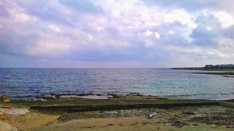 Photography naturalistic landscape depicting the sea. background. nature.  stock photo