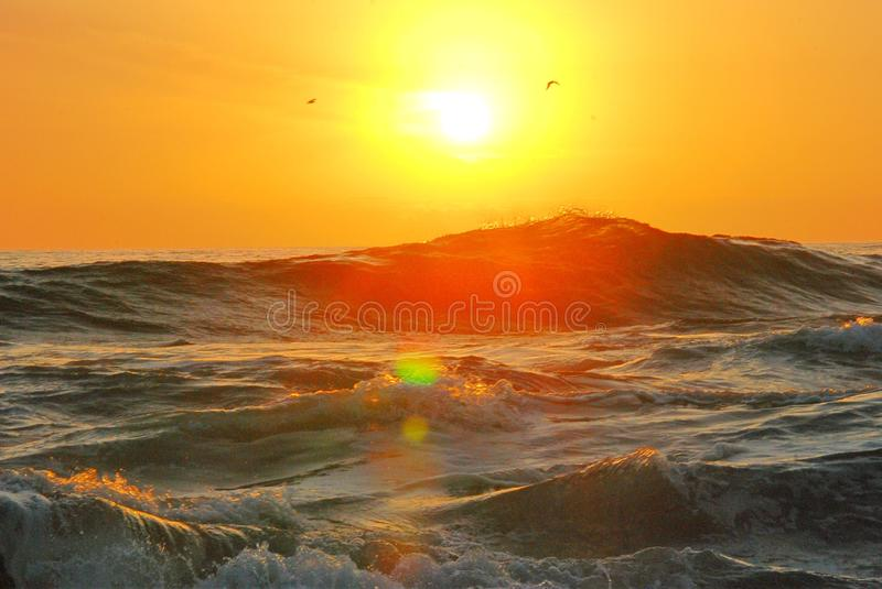 Photography of Ocean Wave during Golden Hour stock photo