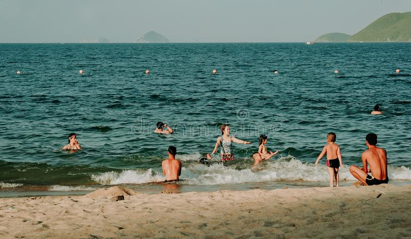 Photography of People Swimming In The Sea royalty free stock photos