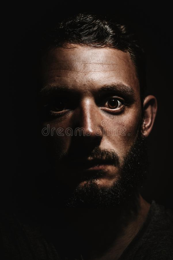 Photography of a Person With Beard stock image