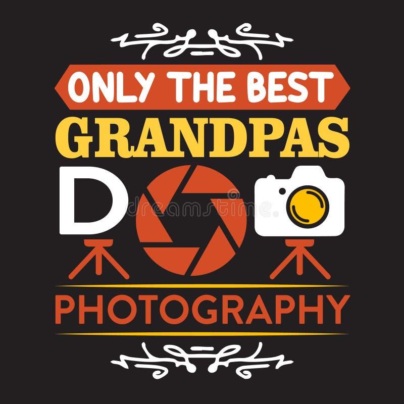 Best Grandpas do photography stock illustration
