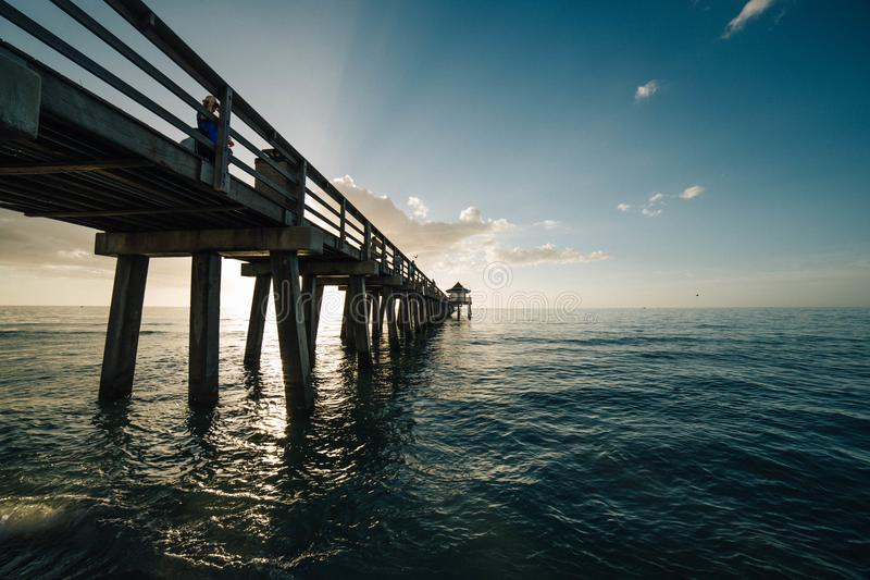 Photography of Sea During Sunset royalty free stock photography