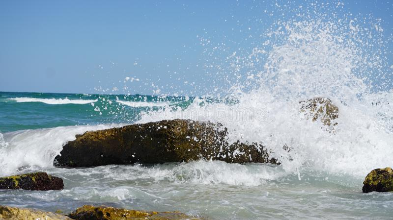 Photography of Sea Waves Under Blue Sky royalty free stock images