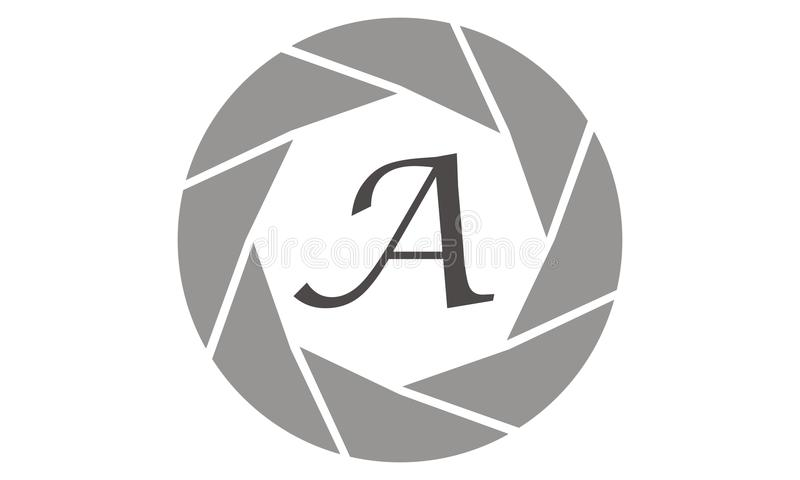 Photography Service Letter A. Logo Design Template Vector vector illustration