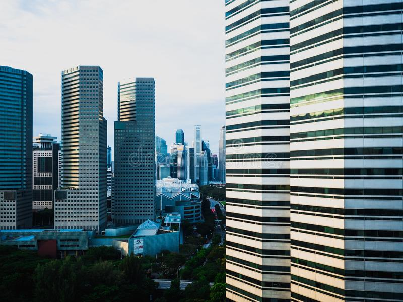 Photography of Singapore Skyscrapers stock photos