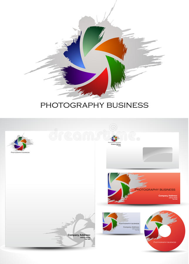 Photography Template Logo Design royalty free illustration