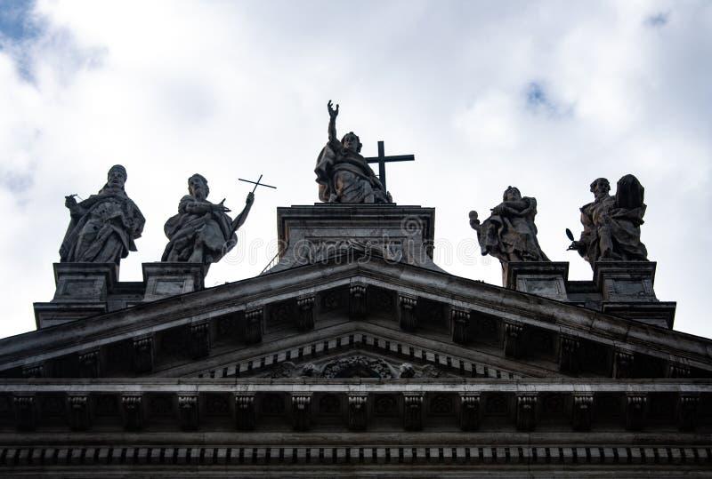 Facade of San Juan de Letrán, Rome. royalty free stock photos