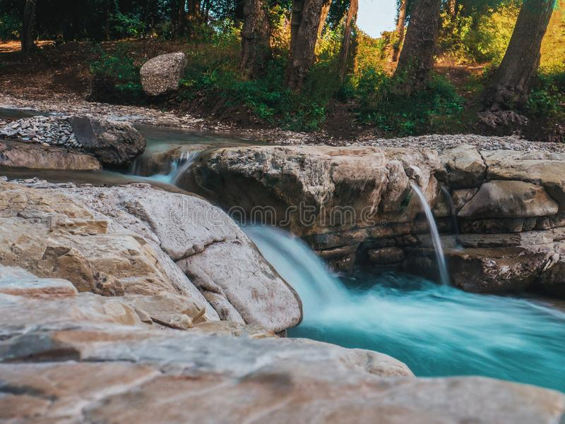 Photography of Water Flow Near Rocks royalty free stock image
