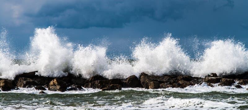 Photography Of Waves Crashing stock image