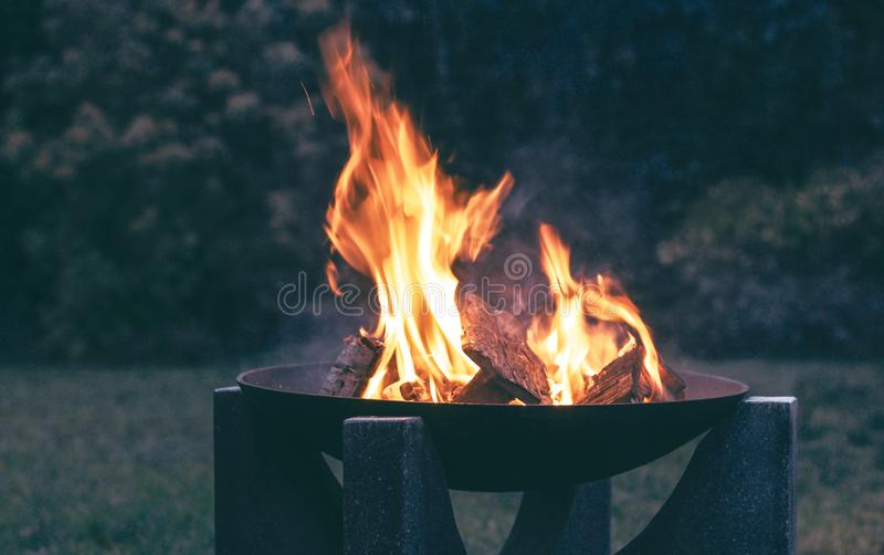 Photography of Wood Burning on Fire Pit royalty free stock photos