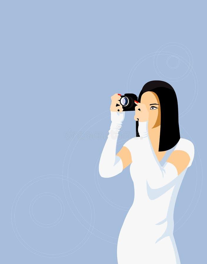 Photogrepher à moda ilustração stock