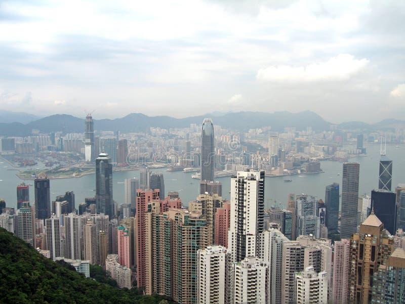 Photogrpah aérien de Hong Kong photographie stock libre de droits