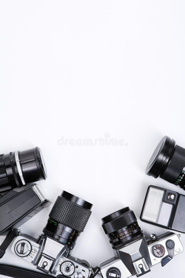 photojournalism оборудования обрамляя стоковое фото