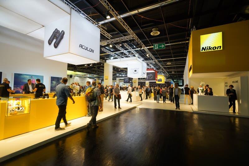 Photokina Exhibition interior royalty free stock photos