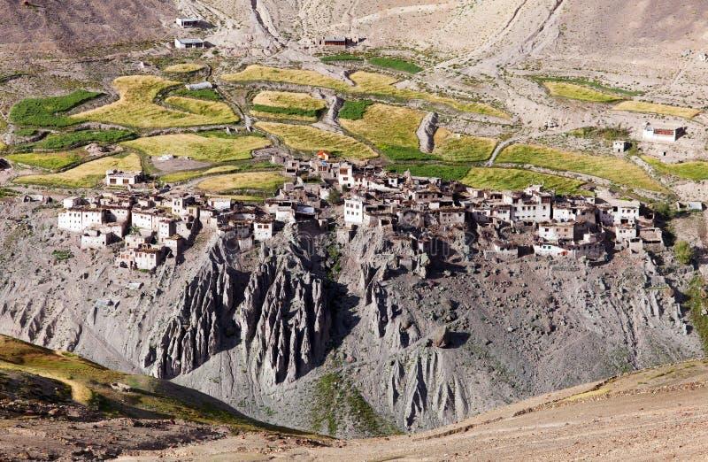 Photoksar村庄- Zanskar艰苦跋涉-拉达克-印度 免版税库存照片