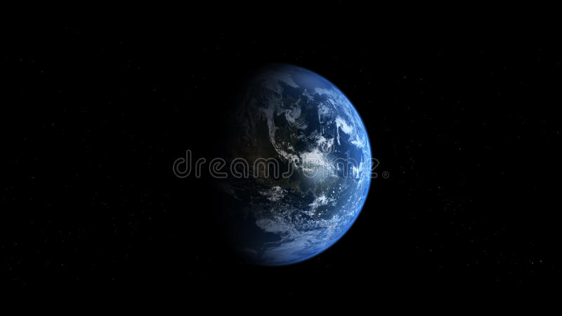 Photoreal Earth - Americas stock illustration
