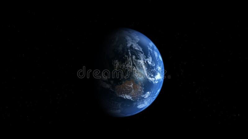 Photoreal Earth - Australia stock illustration