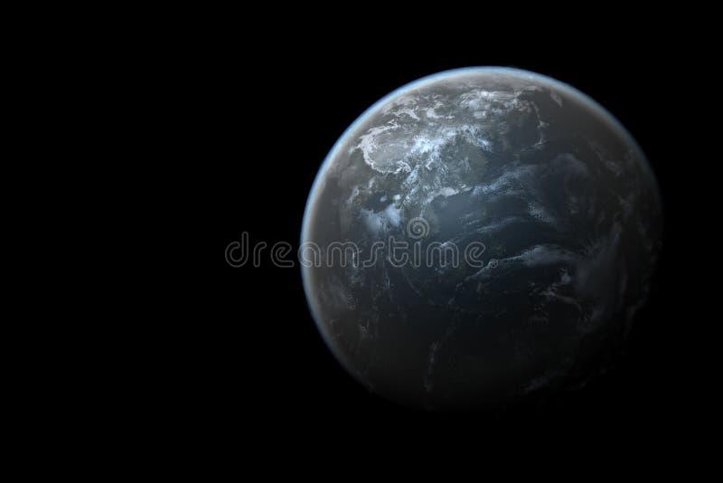 Photorealistic aarde in ruimte royalty-vrije stock foto