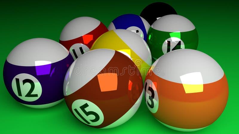 Photorealistic 3d представляют полностью половинных шариков и черного isolat шарика иллюстрация вектора