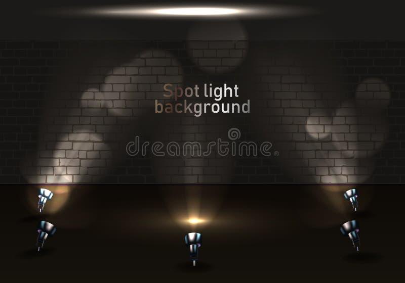 Photorealistic helder stadium met vleklichten stock illustratie