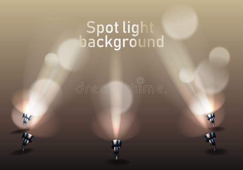 Photorealistic helder stadium met vleklichten royalty-vrije illustratie