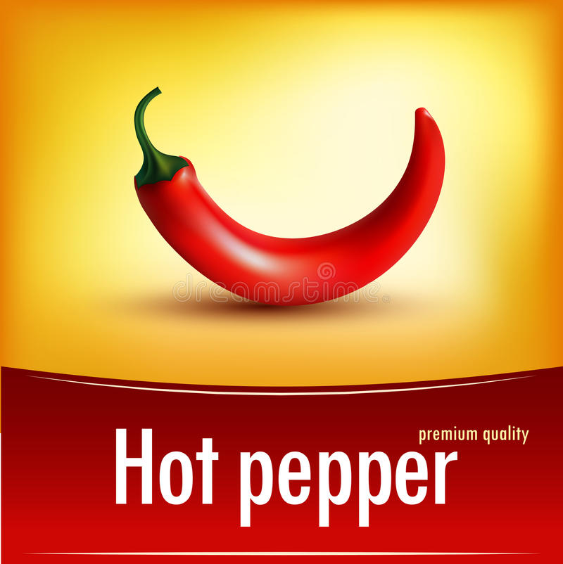 Free Photorealistic Illustration Of A Chilli In Vector Stock Photo - 46355890