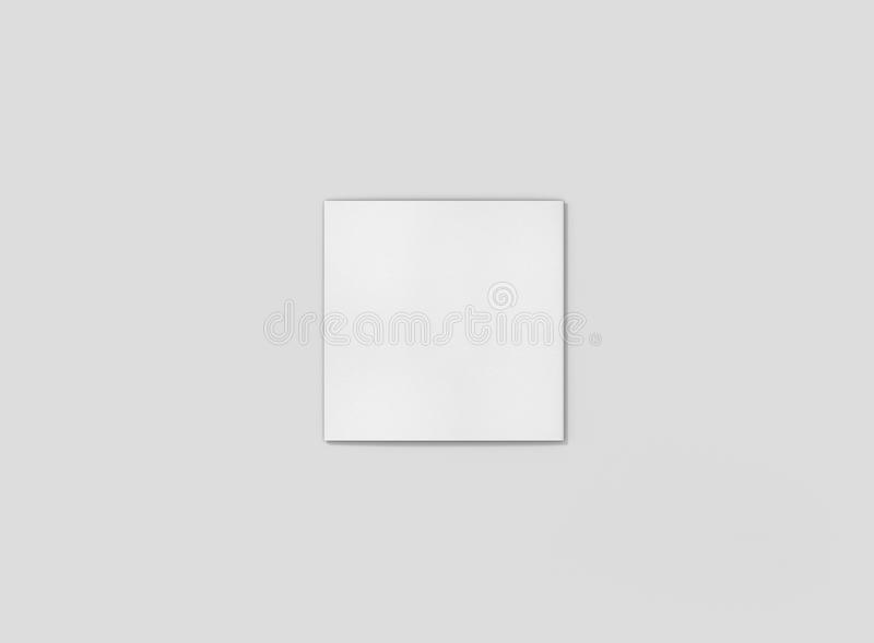 Photorealistic Square Trifold Brochure Mockup on light grey background. Mockup template ready for your design royalty free illustration