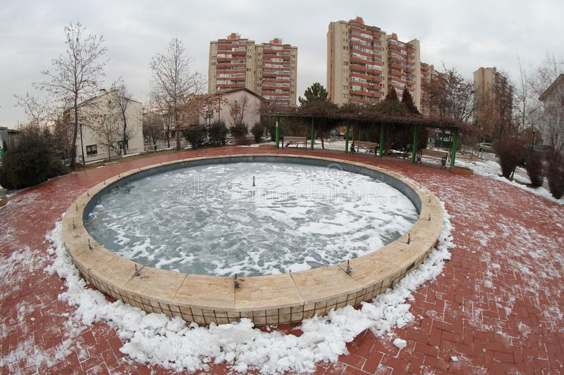 Photos from Ankara taken using fish eye lens. Beautiful results can be achieved with photos taken with fish eye lenses royalty free stock photos