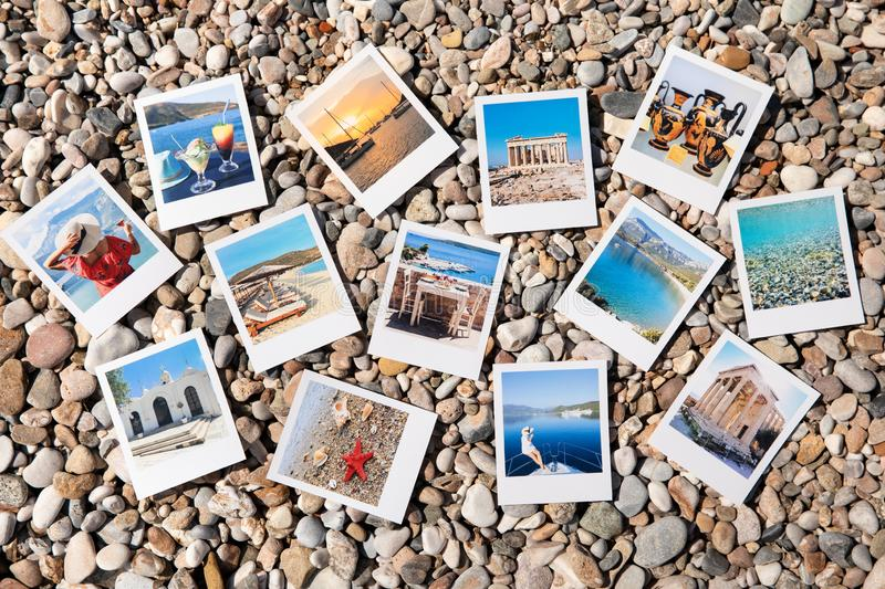 Photos of beautiful moments of happy summer holidays in Greece stock photo